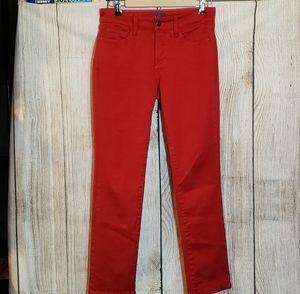 NYDJ red Samantha style slim leg jeans. 4P